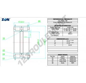 NNF5005-PP-V-ZEN - 25x47x30 mm