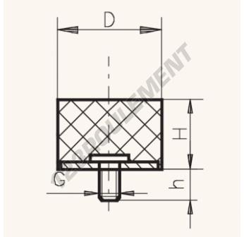 PM6030-12 - M12x60x30 mm