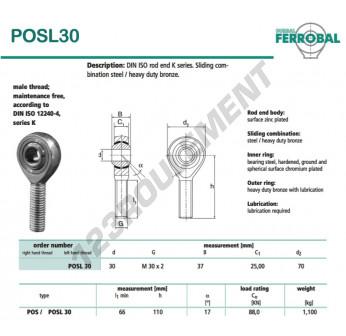 POSL30-DURBAL - x30 mm
