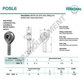 DPOSL6-DURBAL - x6 mm