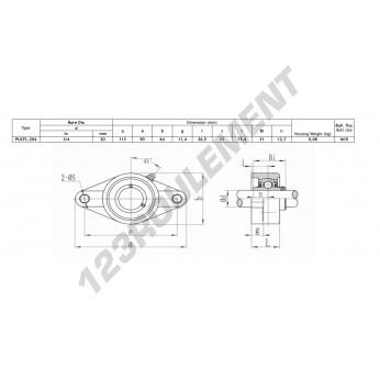 FLPL204-SSUC204-INOX - 20 mm