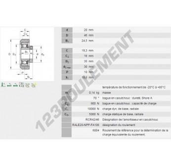 RCR-A-2046-FA106-INA - 20x46x24.5 mm