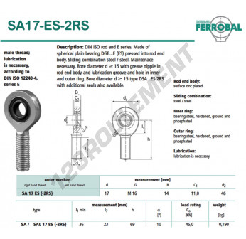 SA17-ES-2RS-DURBAL - x17 mm