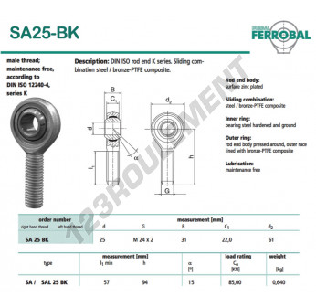 DSA25-BK-DURBAL - x25 mm