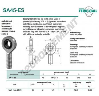 DSA45-ES-DURBAL - x45 mm