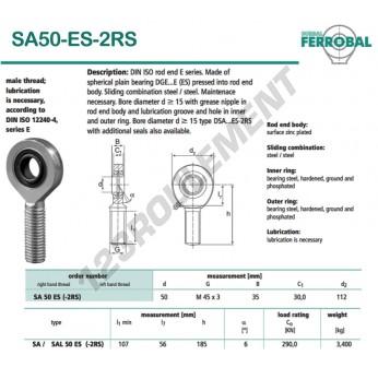 SA50-ES-2RS-DURBAL - x50 mm