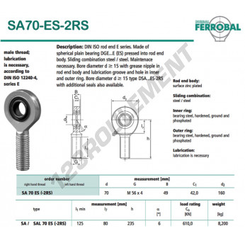 SA70-ES-2RS-DURBAL - x70 mm