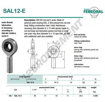 SAL12-E-DURBAL - x12 mm