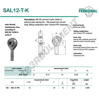 SAL12-T-K-DURBAL - x12 mm