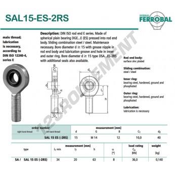 DSAL15-ES-2RS-DURBAL - x15 mm