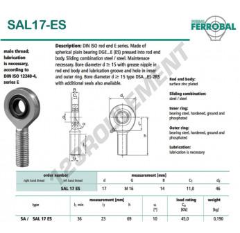 DSAL17-ES-DURBAL - x17 mm