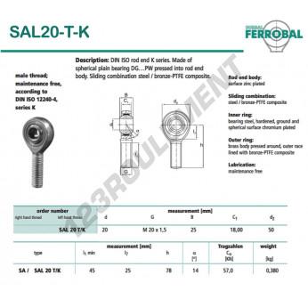 SAL20-T-K-DURBAL - x20 mm