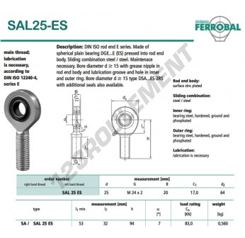 SAL25-ES-DURBAL - x25 mm
