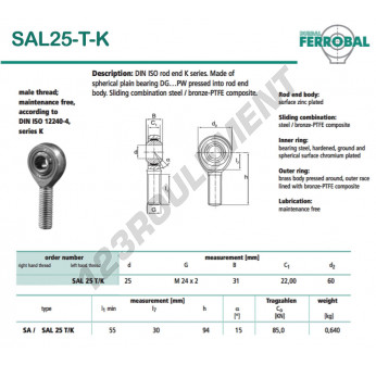 SAL25-T-K-DURBAL - x25 mm