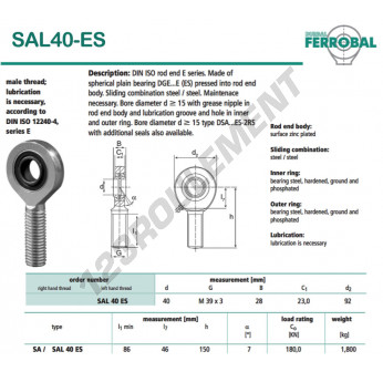 SAL40-ES-DURBAL - x40 mm