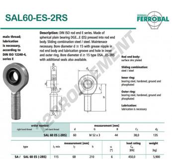 DSAL60-ES-2RS-DURBAL - x60 mm
