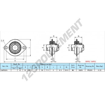 SAPFL201 - 12 mm