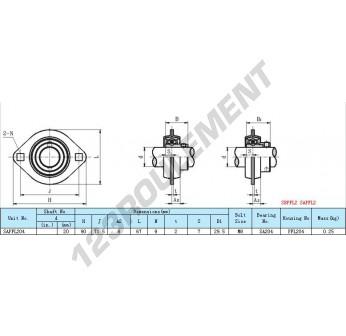 SAPFL204 - 20 mm