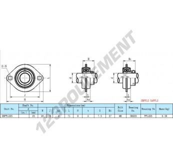 SBPFL205 - 25 mm