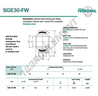 DSGE30-FW-DURBAL - 30x55x20 mm