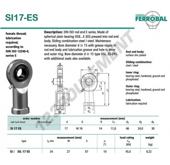 SI17-ES-DURBAL - 17x46x14 mm
