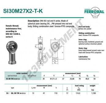 SI30M27X2-T-K-DURBAL - 30x70x37 mm