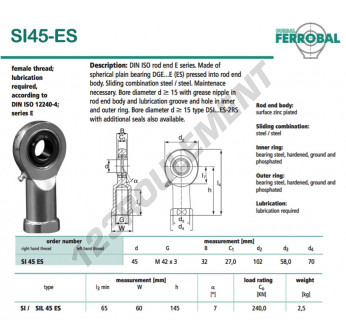 SI45-ES-DURBAL - 45x102x32 mm