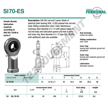 SI70-ES-DURBAL - 70x160x49 mm