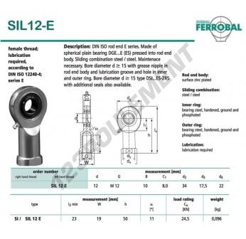 DSIL12-E-DURBAL - 12x34x10 mm