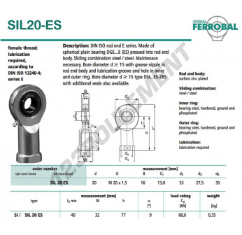 SIL20-ES-DURBAL - 20x53x16 mm