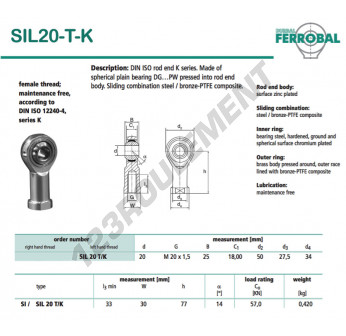 DSIL20-T-K-DURBAL - 20x50x25 mm