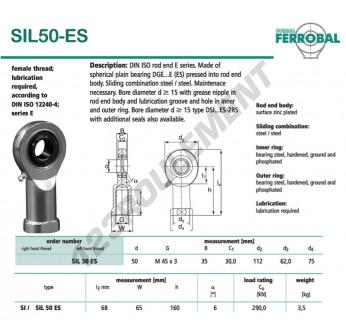 SIL50-ES-DURBAL - 50x112x35 mm