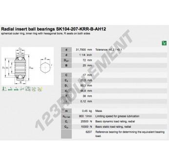 207-KRR-B-AH02-INA - 31.75x72x25 mm