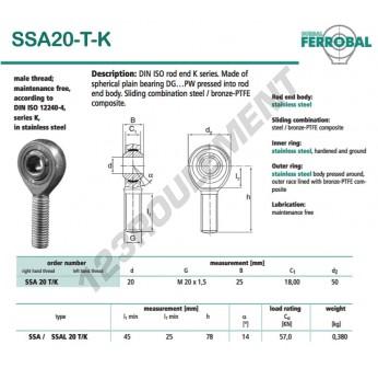 DSSA20-T-K-DURBAL - x20 mm