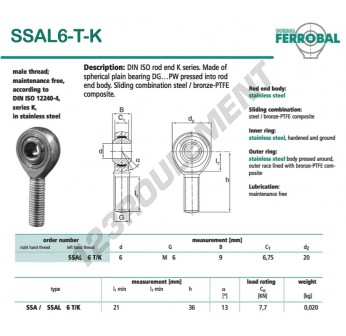 SSAL6-T-K-DURBAL - x6 mm