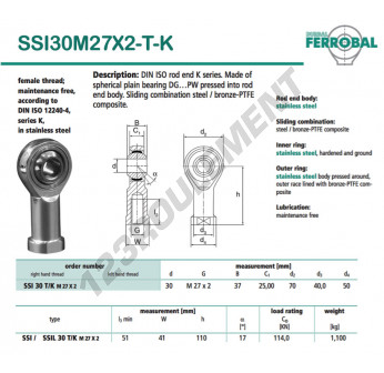 SSI30M27X2-T-K-DURBAL - 30x70x37 mm