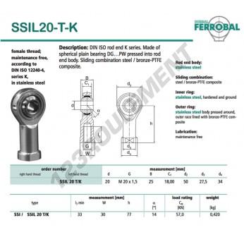 SSIL20-T-K-DURBAL - 20x50x25 mm