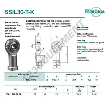 DSSIL30-T-K-DURBAL - 30x70x37 mm