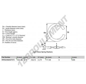 SWSW-117.48-104.39-0.76-5 - 104.39x0.76 mm