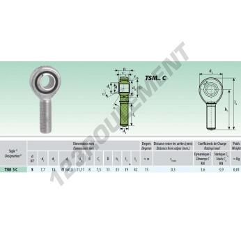 TSM005-C - M5x5 mm