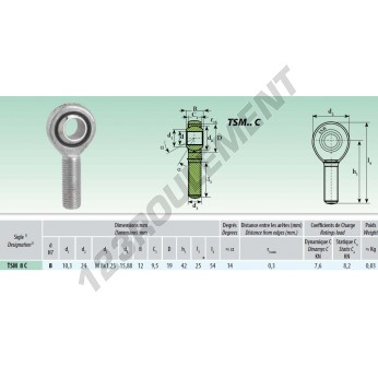 TSM008-C - M8x8 mm