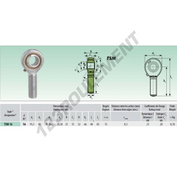 TSM016 - M16x16 mm