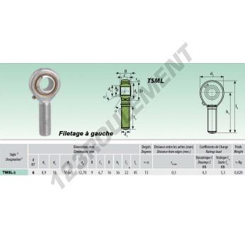 TSML006 - M6x6 mm