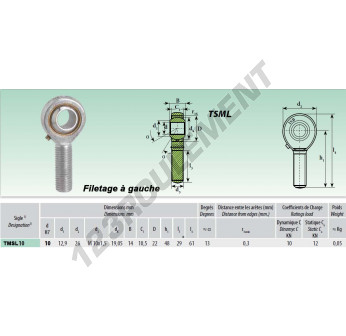 TSML010 - M10x10 mm