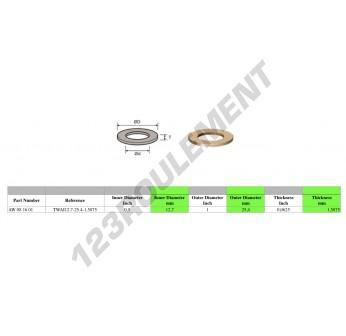 TWAI12.70-25.4-1.5875 - 12.7x25.4x1.59 mm