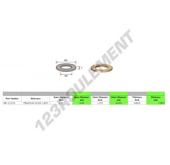 AW122201 - 19.05x34.93x1.59 mm
