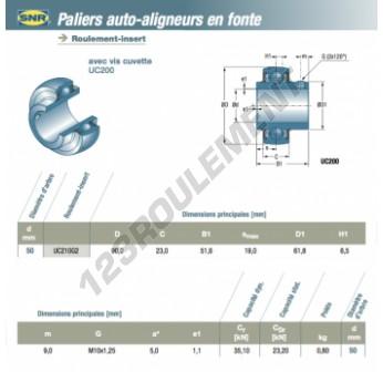 UC210-G2-SNR - 50x90x23 mm
