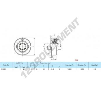 UCC209 - 45 mm