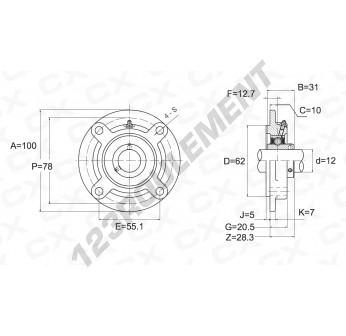 UCFC201 - 12 mm