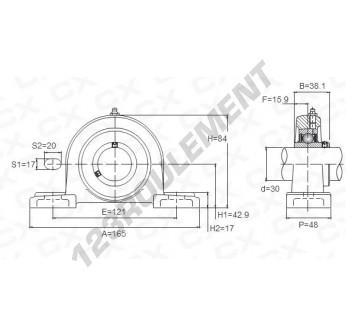 UCP206 - 30 mm